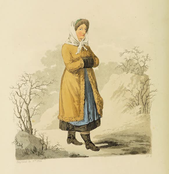 The Costume of the Hereditary States of the House of Austria - A Country Woman of Upper Carniola in her Winter Dress (1804)