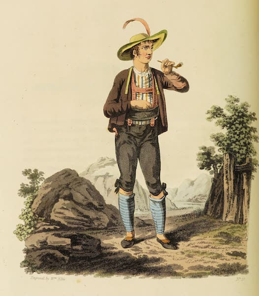 The Costume of the Hereditary States of the House of Austria - A Tyrolian Wrestler (1804)