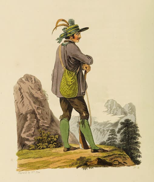 The Costume of the Hereditary States of the House of Austria - A Tyrolian Hunter (1804)