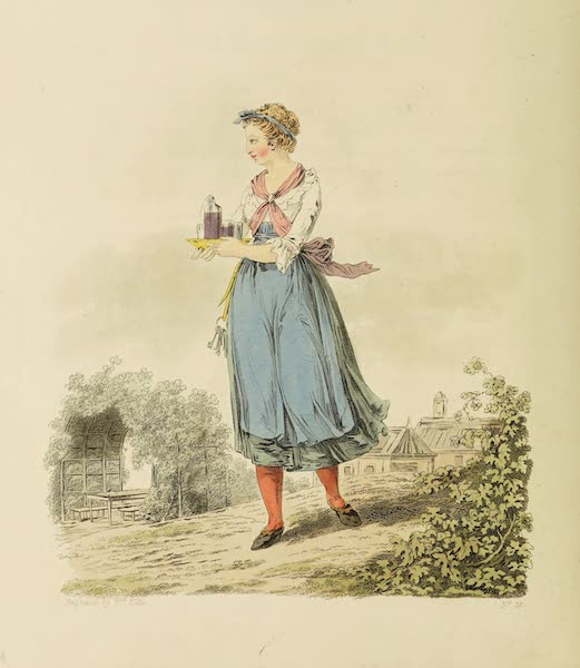 The Costume of the Hereditary States of the House of Austria - A Servant maid of an Inn at Inspruck (1804)
