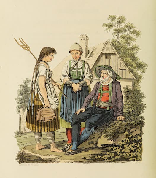 The Costume of the Hereditary States of the House of Austria - Peasants of the Neighbourhood of Inspruck (1804)