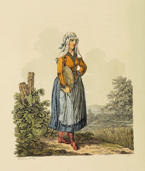 The Costume of the Hereditary States of the House of Austria - A Hungarian Countrywoman (1804)