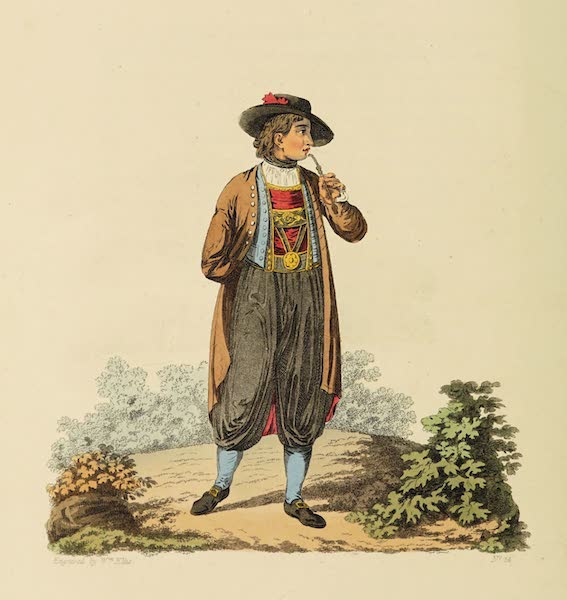 The Costume of the Hereditary States of the House of Austria - A young Peasant of Egra, in his Winter Dress (1804)