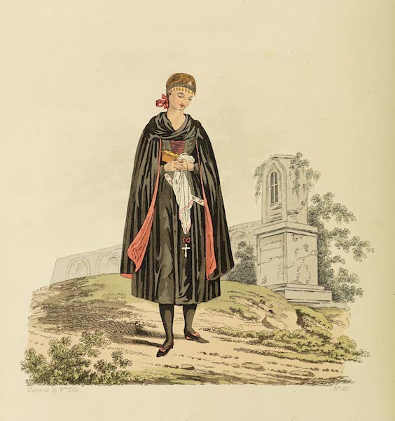 The Costume of the Hereditary States of the House of Austria - A young Bride of Egra, in her Wedding Clothes (1804)