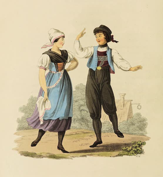 The Costume of the Hereditary States of the House of Austria - Peasants of Egra, in their Summer Clothes (1804)