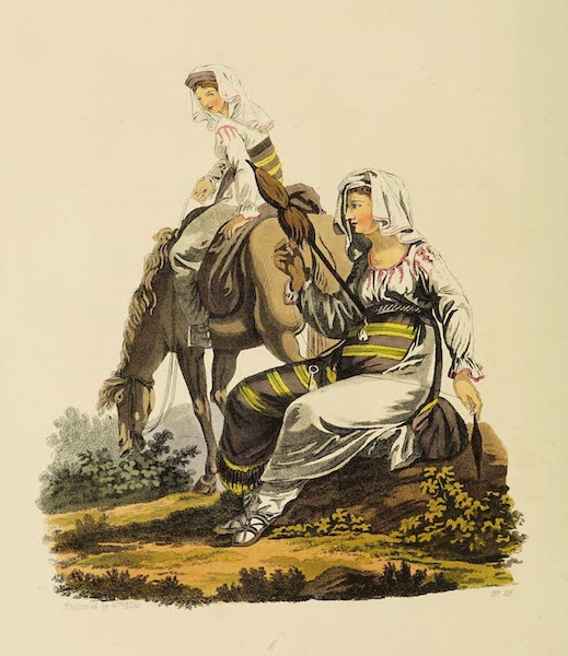 The Costume of the Hereditary States of the House of Austria - Countrywomen of the Neighbourhood of Hermanstadt, in Transylvania (1804)