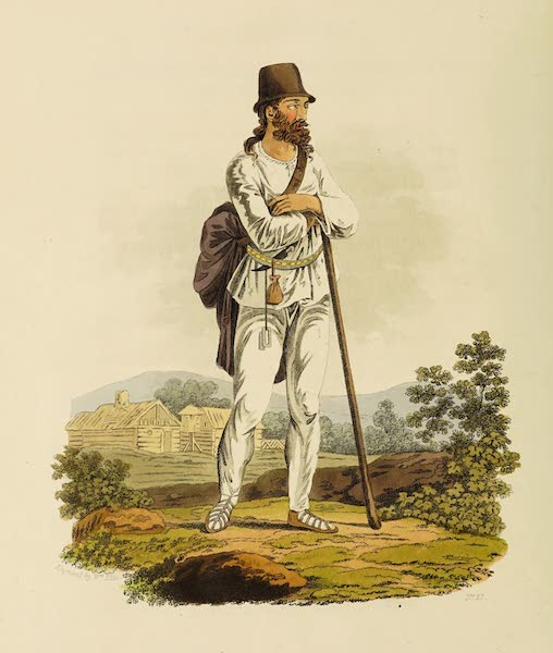 The Costume of the Hereditary States of the House of Austria - A Peasant of the Neighbourhood of Hermanstadt, in Transylvania (1804)
