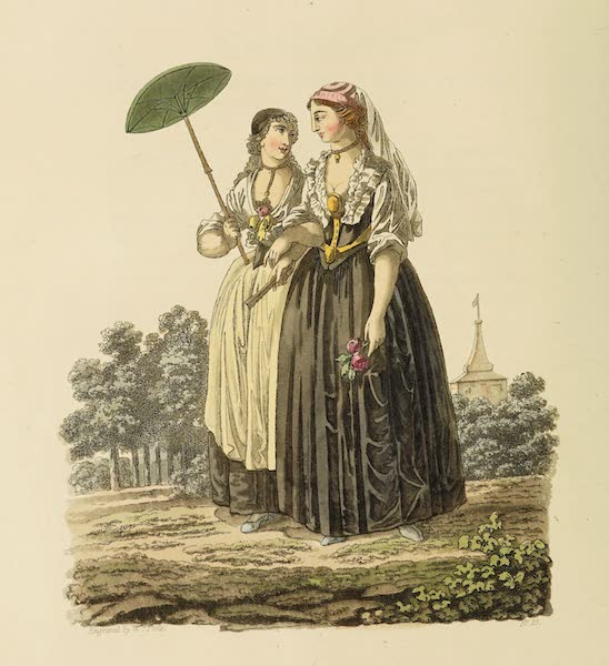 The Costume of the Hereditary States of the House of Austria - Saxon Ladies of the City of Hermanstadt (1804)