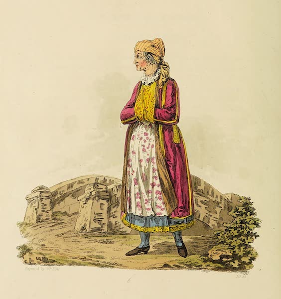 The Costume of the Hereditary States of the House of Austria - A Polish Jewess (1804)