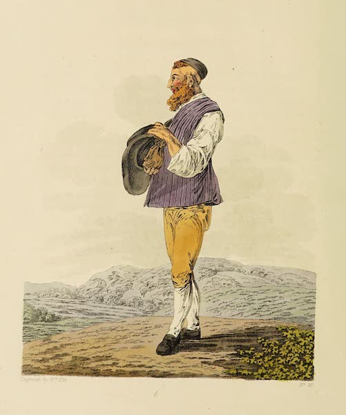 The Costume of the Hereditary States of the House of Austria - A Jew of Montgatz, in his Summer Dress (1804)
