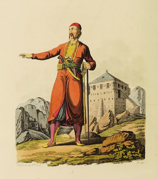 The Costume of the Hereditary States of the House of Austria - A Zouppanese Count, of the Country of Cattaro, in Dalmatia (1804)