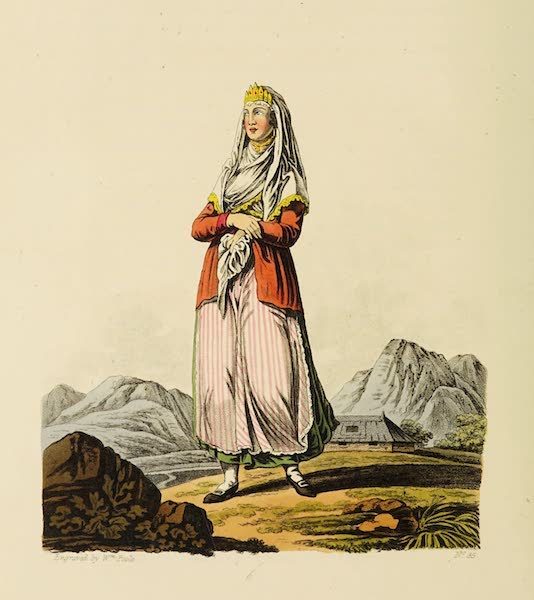 The Costume of the Hereditary States of the House of Austria - A Zouppanese Countess (1804)