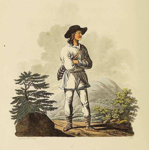 The Costume of the Hereditary States of the House of Austria - A Moravian Mountaineer, near the confines of Hungary (1804)