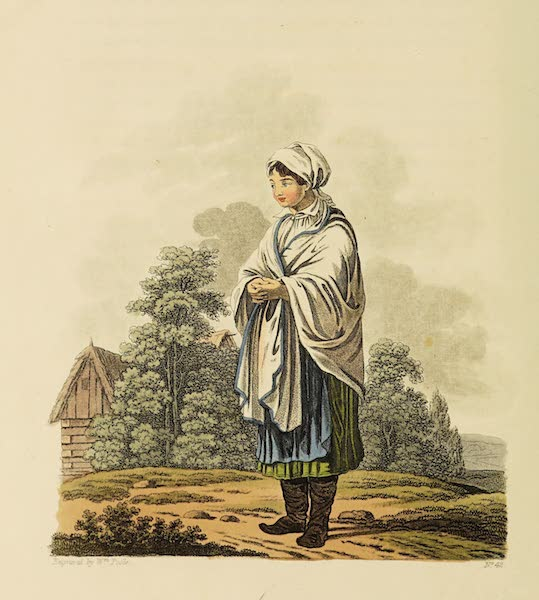 The Costume of the Hereditary States of the House of Austria - A Countrywoman of the Mountains of Moravia (1804)