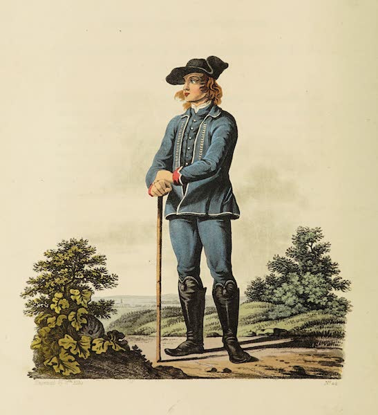 The Costume of the Hereditary States of the House of Austria - A Peasant of the Lowlands of Moravia, in his Summer Dress (1804)