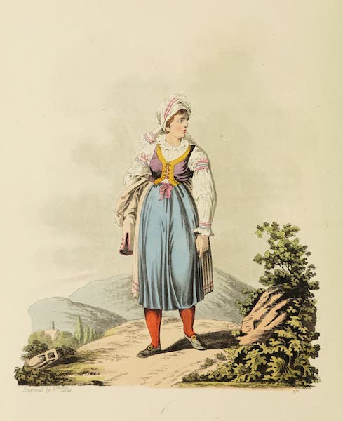 The Costume of the Hereditary States of the House of Austria - An Hannachian Woman (1804)