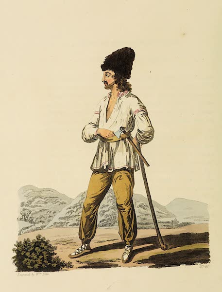 The Costume of the Hereditary States of the House of Austria - A Russniac Peasant of the Palatinate of Marmoros (1804)
