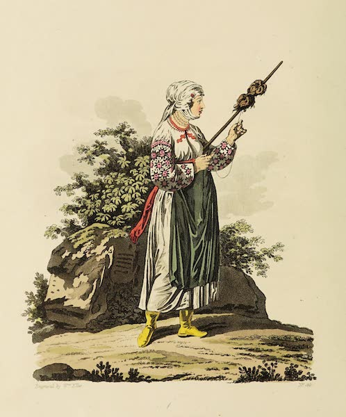 The Costume of the Hereditary States of the House of Austria - A Russniac Woman of the Palatinate of Marmoros (1804)