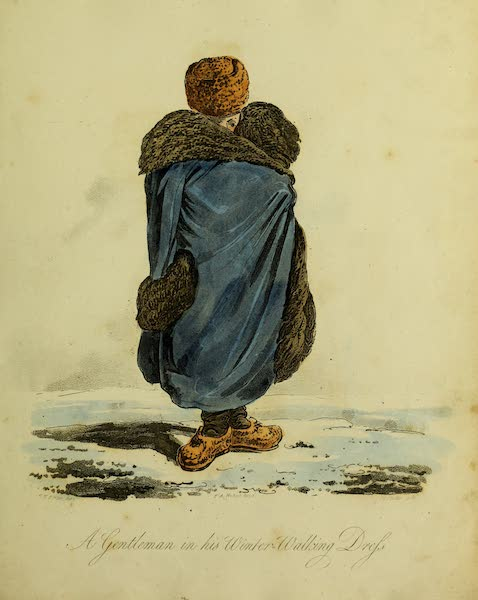 The Costume of the Inhabitants of Russia - A Gentleman in his Winter-Walking Dress (1809)