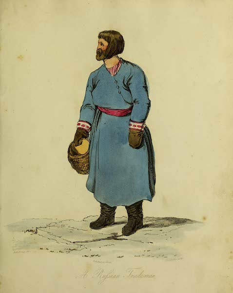 The Costume of the Inhabitants of Russia - A Russian Tradesman (1809)