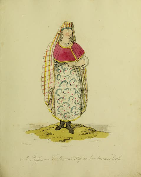 The Costume of the Inhabitants of Russia - A Russian Tradesman's Wife in her Summer Dress (1809)