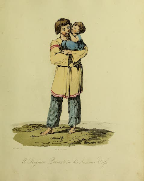 The Costume of the Inhabitants of Russia - A Russian Peasant in his Summer Dress (1809)