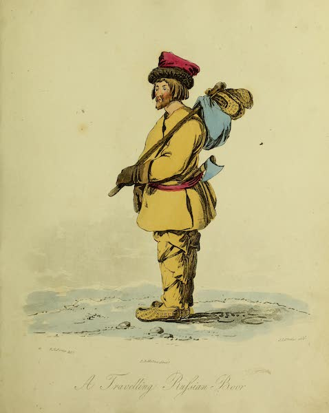 The Costume of the Inhabitants of Russia - A Travelling Russian Boor (1809)