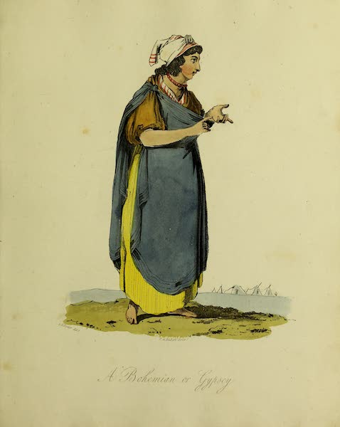 The Costume of the Inhabitants of Russia - A Bohemian or Gypsey (1809)