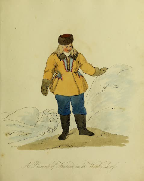 The Costume of the Inhabitants of Russia - A Peasant of Finland in his Winter Dress (1809)