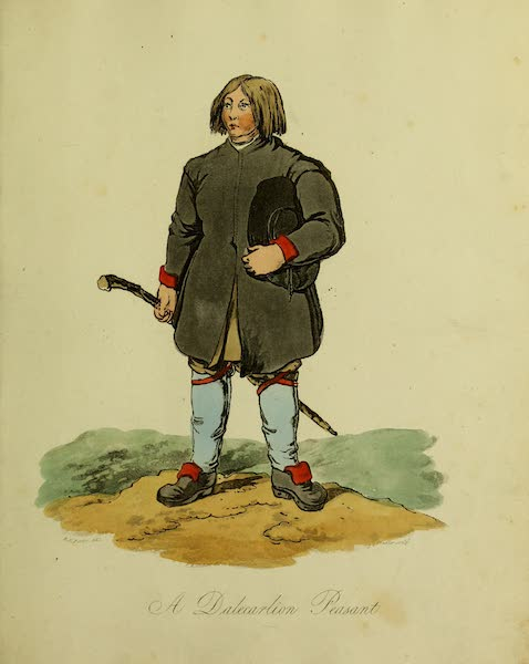 The Costume of the Inhabitants of Russia - A Dalecarlion Peasant (1809)