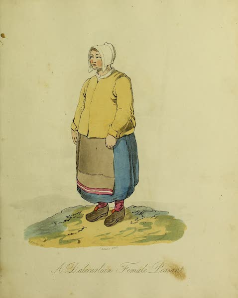 The Costume of the Inhabitants of Russia - A Dalecarlion Female Peasant (1809)