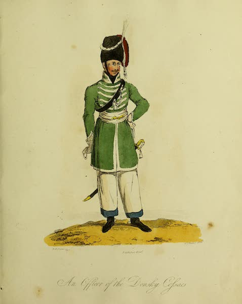 The Costume of the Inhabitants of Russia - An Officer of the Donsky Cossacs (1809)