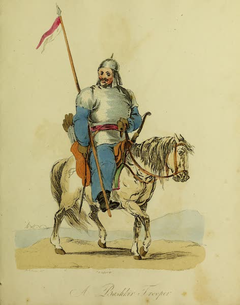 The Costume of the Inhabitants of Russia - A Bashkir Trooper (1809)