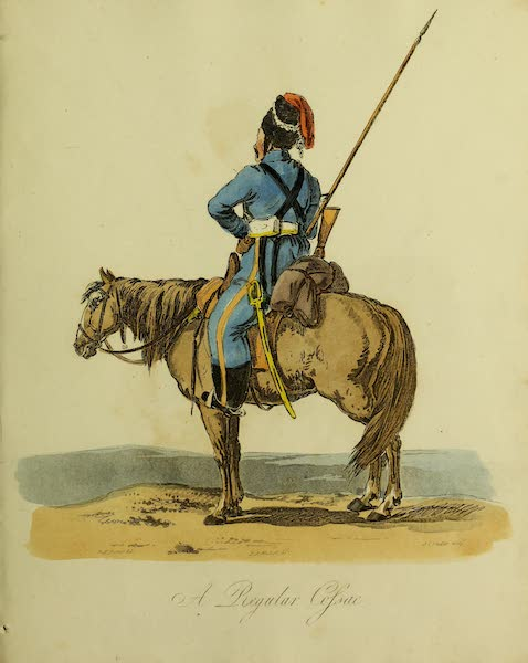 The Costume of the Inhabitants of Russia - A Regular Cossac (1809)