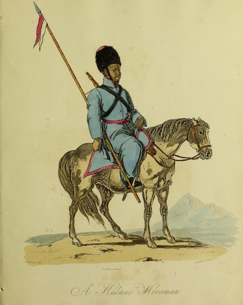The Costume of the Inhabitants of Russia - A Kalmuc Horseman (1809)