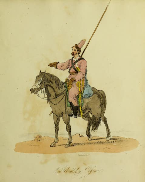 The Costume of the Inhabitants of Russia - An Uralsky Cossac (1809)