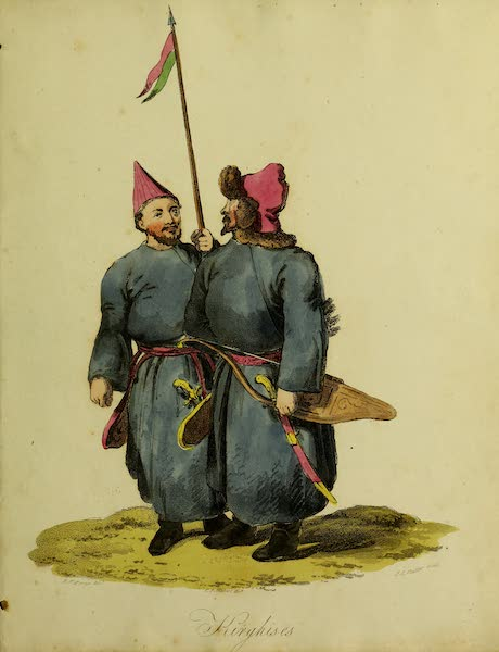 The Costume of the Inhabitants of Russia - Kirghises (1809)