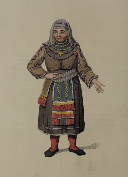 The Costume of the Russian Empire - A Female Peasant of Finland (1803)