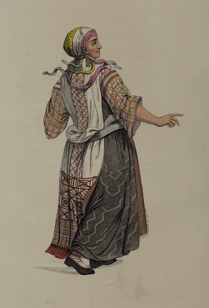 The Costume of the Russian Empire - A Woman of Finland (1803)