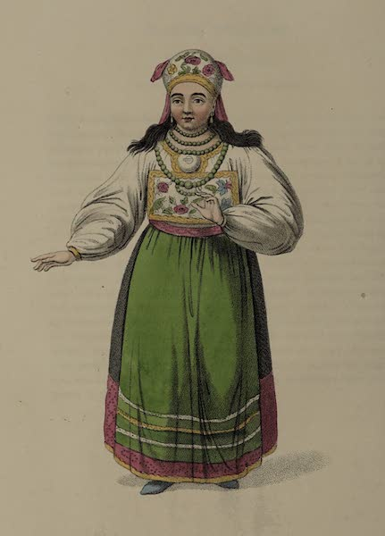 The Costume of the Russian Empire - A Woman of Esthonia (1803)