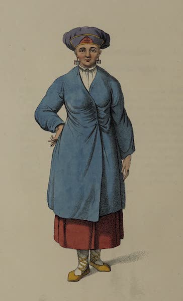 The Costume of the Russian Empire - A Female Peasant of Ingria (1803)