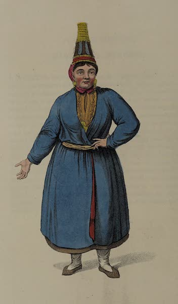 The Costume of the Russian Empire - A Tcheremhisian Woman (1803)