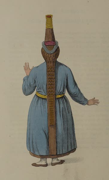The Costume of the Russian Empire - Back of a Tcheremhisian Woman (1803)