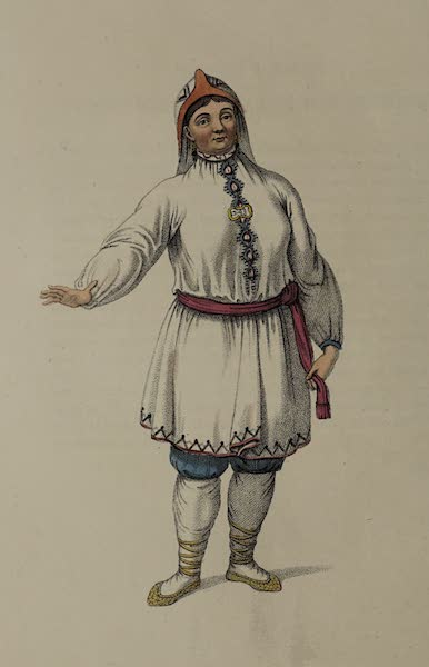 The Costume of the Russian Empire - A Tcheremhisian Woman, in her Summer Dress (1803)