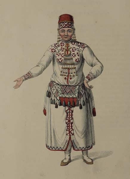 The Costume of the Russian Empire - A Female Mordvine (1803)