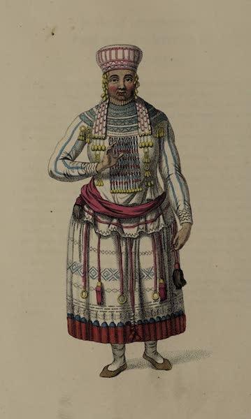 The Costume of the Russian Empire - A Mordvine of the Mokshan Tribe (1803)
