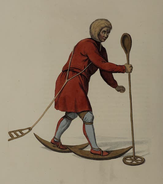 The Costume of the Russian Empire - An Ostiak, in his winter hunting dress (1803)