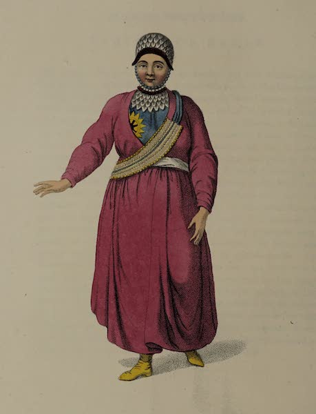 The Costume of the Russian Empire - A Female Tartar of Kazan (1803)