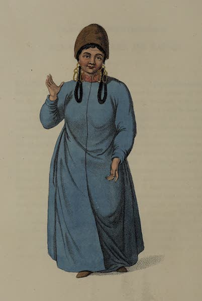 The Costume of the Russian Empire - A Female Tartar of Tchatska (1803)