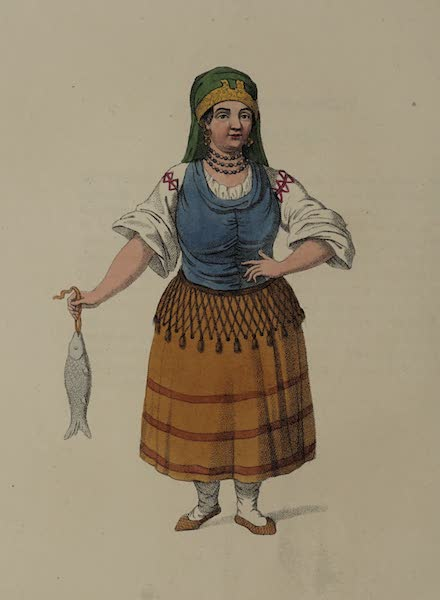 The Costume of the Russian Empire - A Kabardinian Woman (1803)